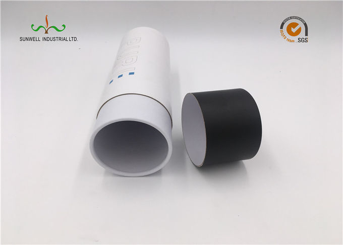 White Color Recyclable Paper Circular Cardboard Tubes Toothpaste Packaging Box