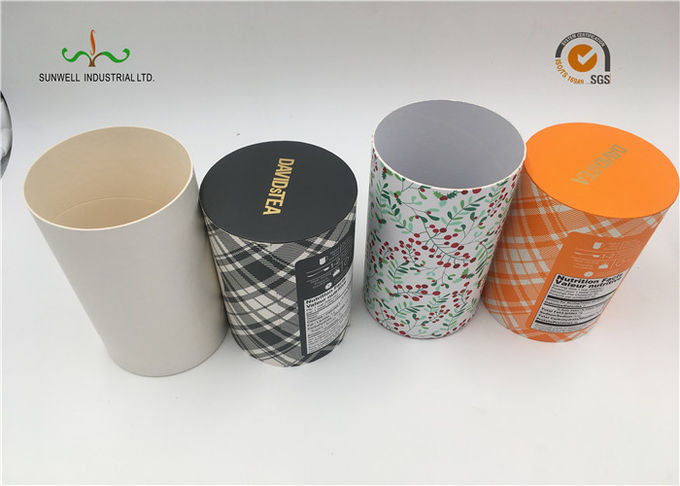 Art Paper Cylinder Packaging Box , T - Shirt Tube Packaging For Clothing Packaging