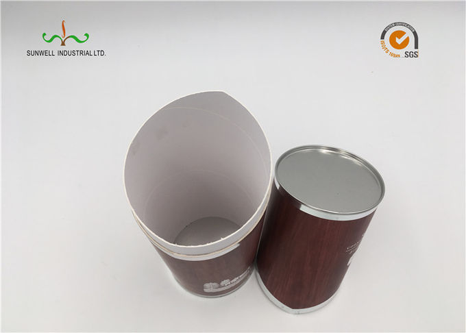 SGS Printed Cardboard Tubes / Serialized Products Packaging Round Tube Box With Lid