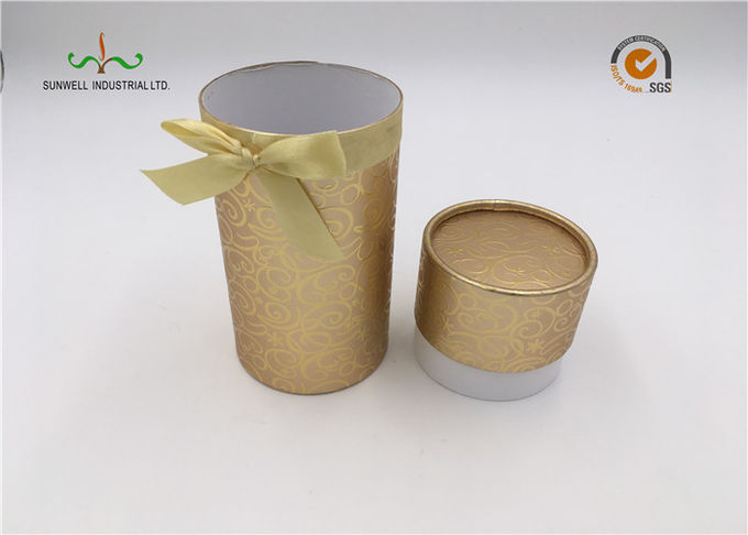 Recycled Cylindrical Cardboard Tubes / Brown Kraft Paper Tube Packaging